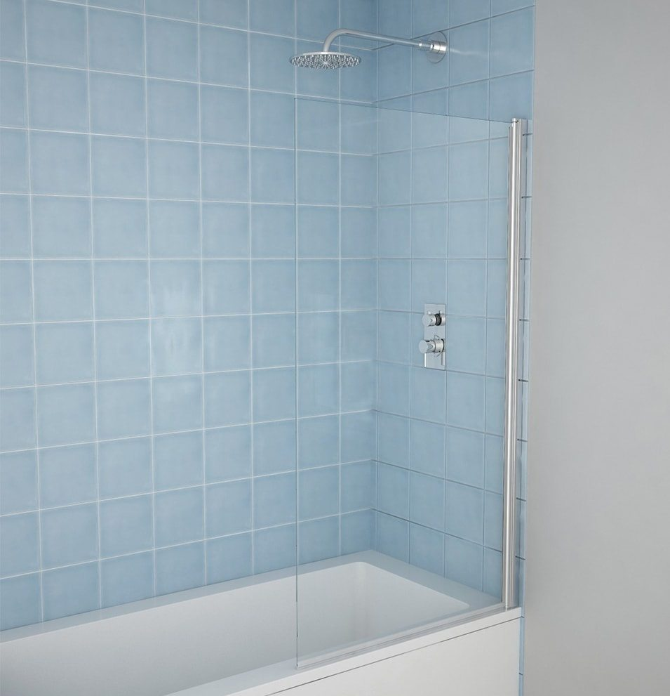 5mm Straight Shower Bath Screen - MLH Products