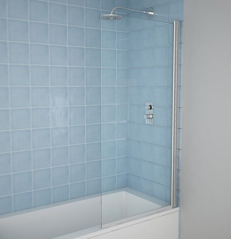 6mm Straight Shower Bath Screen - MLH Products