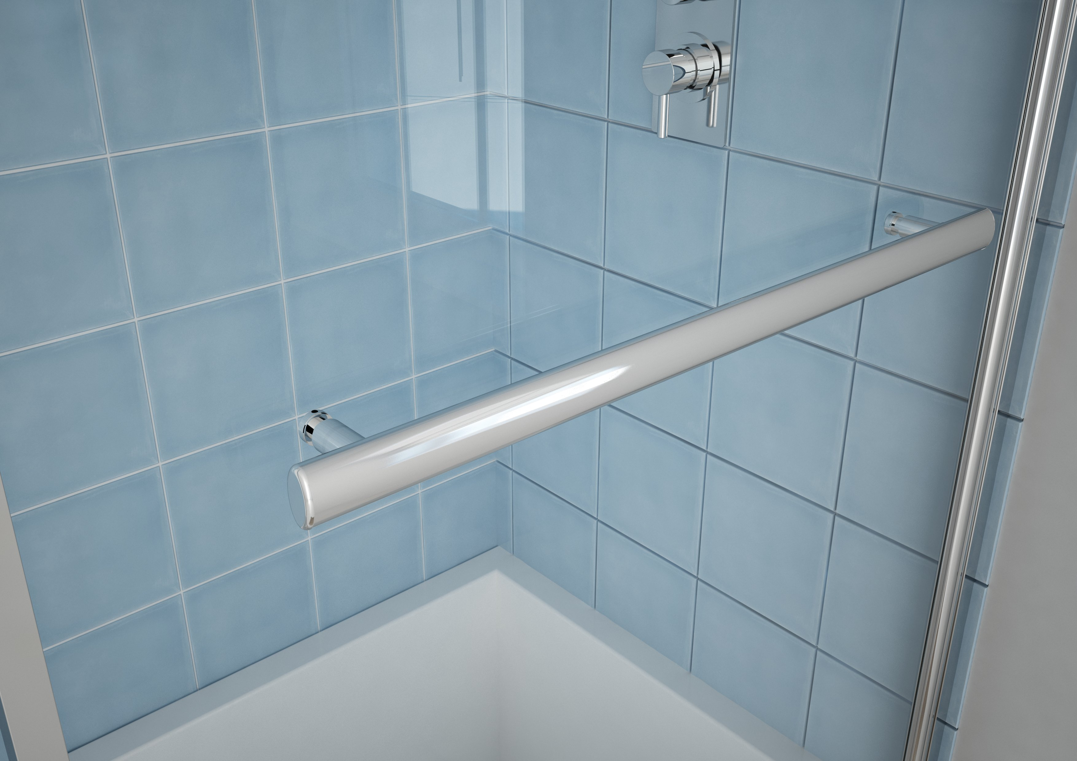 6mm Straight Shower Bath Screen Radius - MLH Products