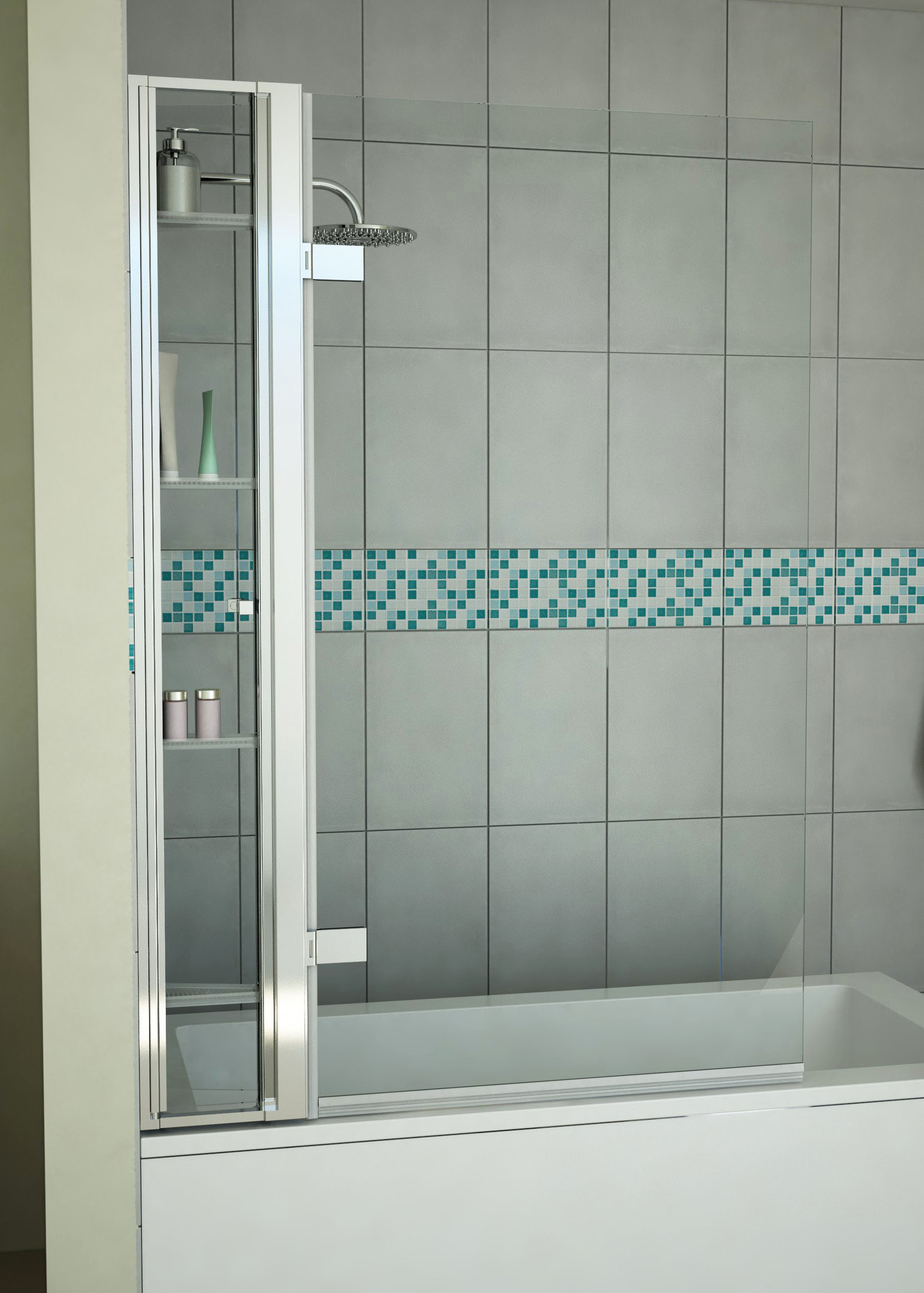 Bath Screen Vertical Storage Unit 1500mm - MLH Products
